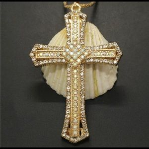 Betsey Johnson~ Large Cross Necklace